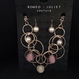Romeo & Juliet Pearls Circles, Pink Necklace Set